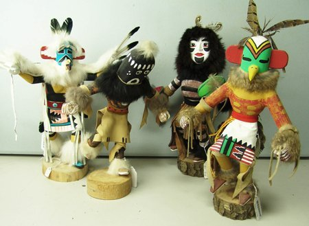 4 Kachina Dolls