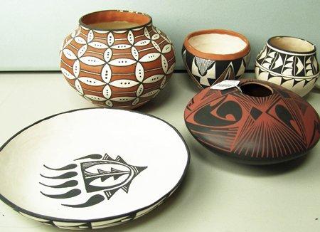 5 Southwest Indian Pots