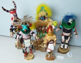 5 Kachina Dolls