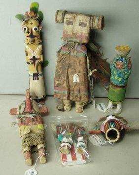 8 Kachina Dolls