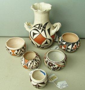 6 Acoma Pots