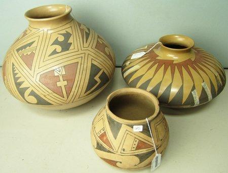 3 Large Pottery Bowls