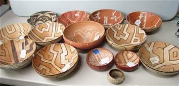 14 Pottery Bowls, Shipibo