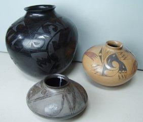 3 Large Southwest Pots