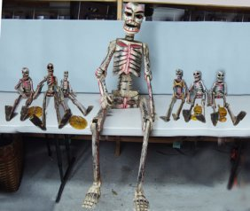 7 Day Of The Dead Skeletons