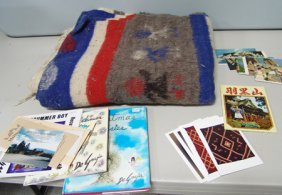 Post Cards And Blanket