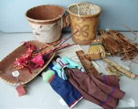 Box Lot Of Miscellaneous Indian Material