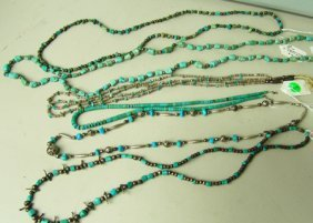 6 Turquoise Necklaces