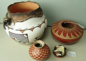 4 Pottery Jars