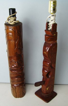 2 Northwest Coast Lamps