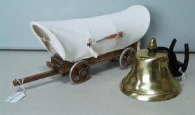 Toy Wagon And Brass Bell