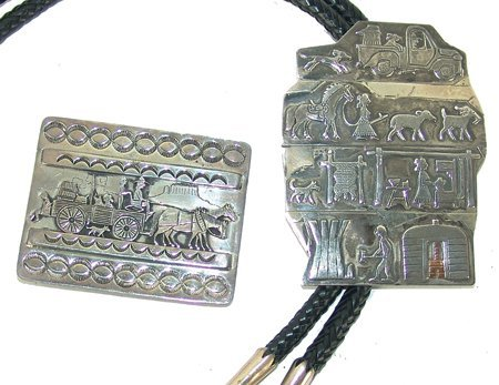 Navajo Bolo & Buckle Set - Clarence Lee/Edison Begay
