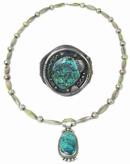 Navajo Bracelet & Necklace Set