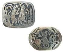 2 Hopi Belt Buckles - Ron & Edison Wadsworth