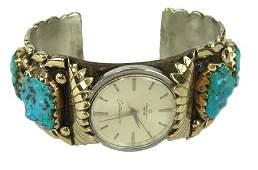 Navajo Gold Watch Bracelet - Robert Leekity