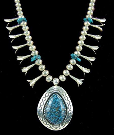 Lander Blue Turquoise Necklace - Lee Yazzie