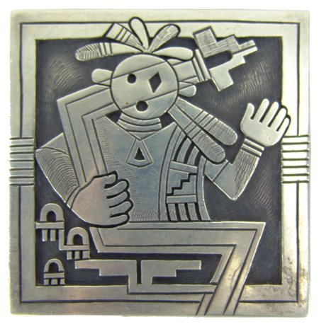 Hopi Belt Buckle - Michael Kabotie