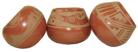 3 San Ildefonso Pottery Bowls - Helen Gutierrez