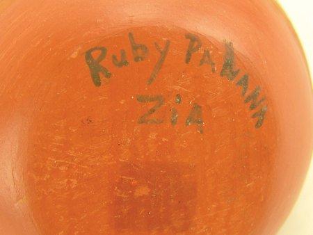 Zia Pottery Jar - Ruby Panana - 7