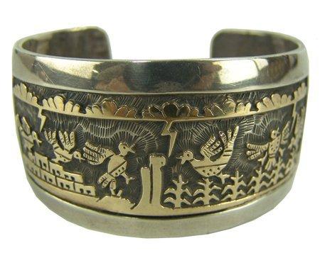 Hopi Gold & Silver Bracelet - Watson Honanie