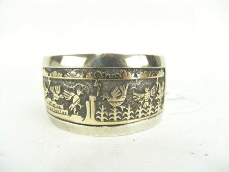 Hopi Gold & Silver Bracelet - Watson Honanie - 2