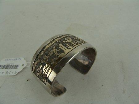 Hopi Gold & Silver Bracelet - Watson Honanie - 3