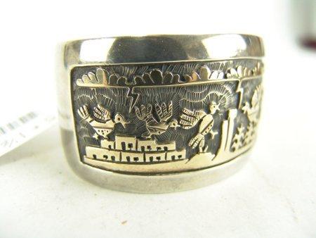 Hopi Gold & Silver Bracelet - Watson Honanie - 4