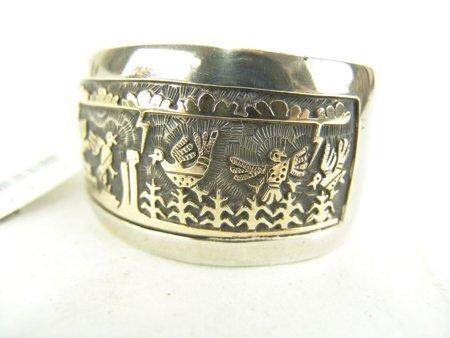 Hopi Gold & Silver Bracelet - Watson Honanie - 5