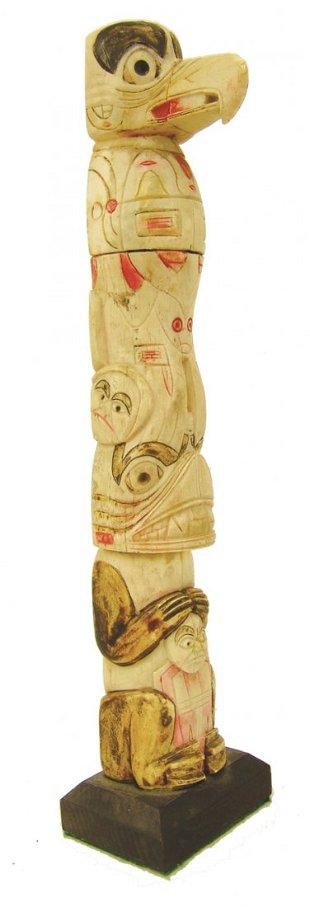 Vintage Carved Bone Totem Pole Jan 30 2016 Desert West Auction In Nm