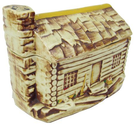 McCoy Log Cabin Cookie Jar