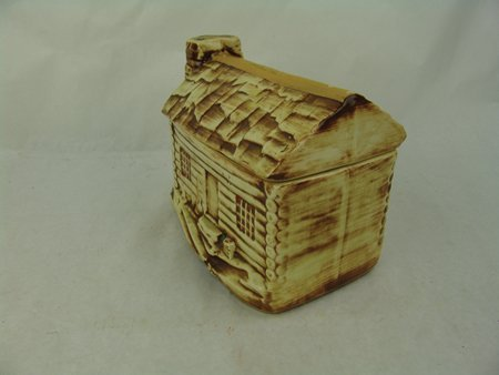 McCoy Log Cabin Cookie Jar - 2