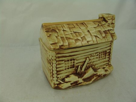 McCoy Log Cabin Cookie Jar - 3