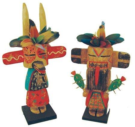 2 Hopi Kachina Carvings - Greg Lomayesva