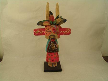 2 Hopi Kachina Carvings - Greg Lomayesva - 2