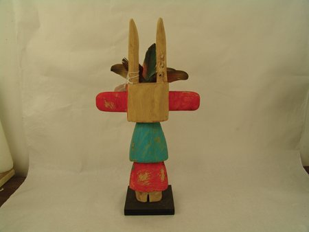 2 Hopi Kachina Carvings - Greg Lomayesva - 4