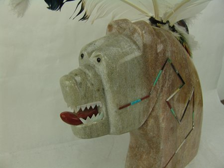 Isleta Stone Sculpture - Andy Abeita - 2