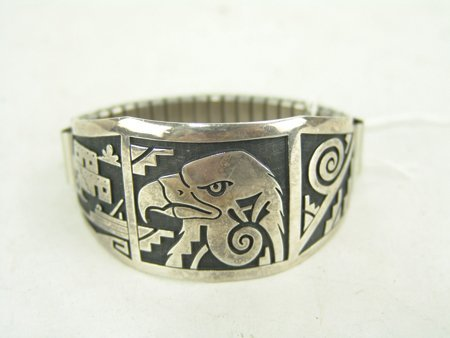 Hopi Silver Bracelet - 2