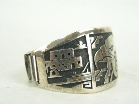 Hopi Silver Bracelet - 4