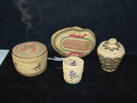 4 Miniature NW Coast/Alaska Baskets - 2