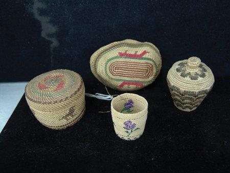 4 Miniature NW Coast/Alaska Baskets - 3