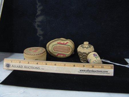 4 Miniature NW Coast/Alaska Baskets - 6