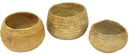 3 Jicarilla Baskets