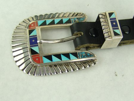 Navajo Buckle Set - Chester Benally - 3