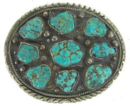 Navajo Belt Buckle - David Johnson