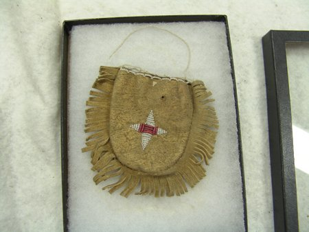 3 Beaded Buckskin Items - 10