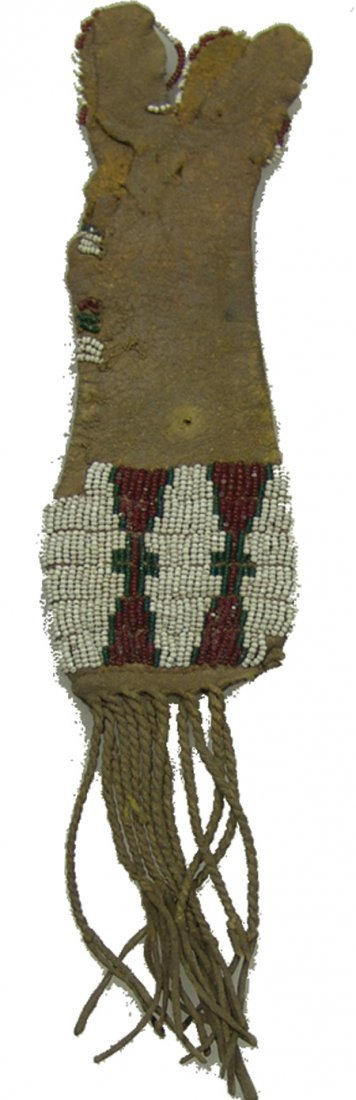3 Beaded Buckskin Items - 2