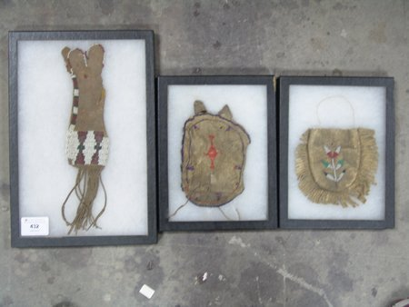 3 Beaded Buckskin Items - 5