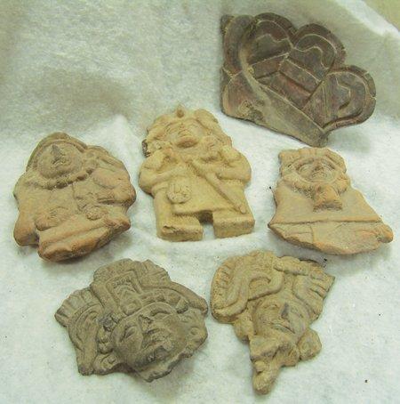 6 Mayan Pottery Figures