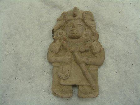 6 Mayan Pottery Figures - 2