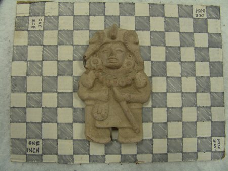 6 Mayan Pottery Figures - 8